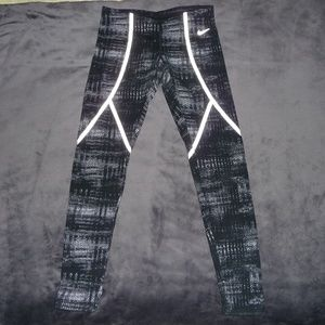 Nike Dri-Fit Printed Running Tights S